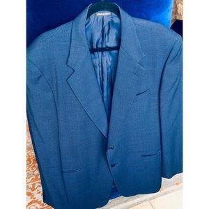 NL! Pal Zileri 100% Wool Blue Weave Blazer